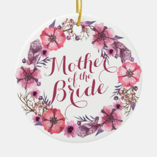 Mother of the Bride Pink Floral Wedding Ornament