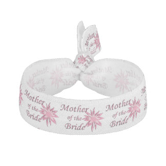 Mother of The Bride Pink Hair Tie