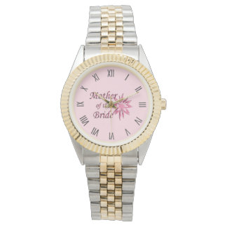Mother of The Bride Pink Roman Numerals Watch