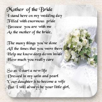 Mother of the Bride Poem   Wedding Bouquet Design Drink Coasters
