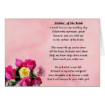 Mother of the Bride - Roses Greeting Card