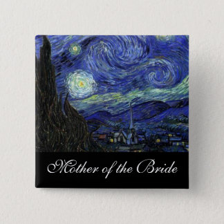 Mother of the bride Starry Night 2 Inch Square Button