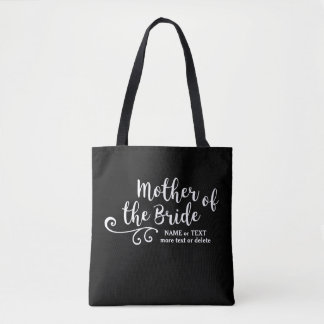Mother of the Bride Tote Bag | Chic White Script