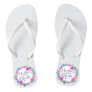 Mother of the Bride Tropical Floral Flip Flops