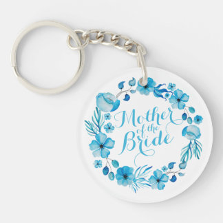 Mother of the Bride Watercolor Keychain