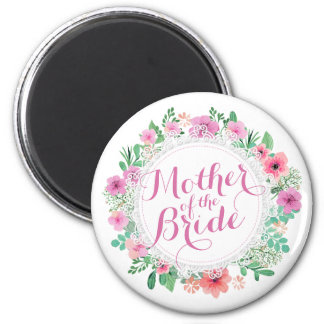 Mother of the Bride Watercolor Wedding | Magnet