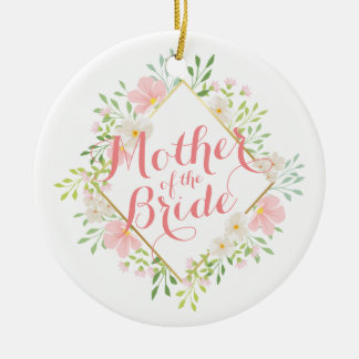 Mother of the Bride Watercolor Wedding Ornament