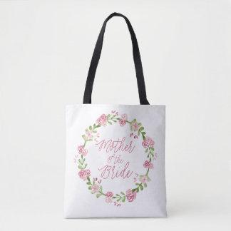 Mother of the Bride Watercolor Wreath Bag
