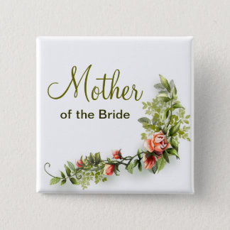 mother of the bride wedding button