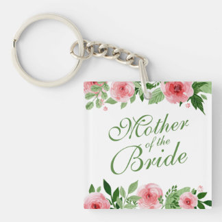 Mother of the Bride Wedding Keychain