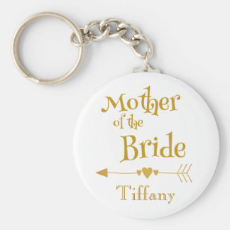 Mother of the Bride Wedding Memory Keychain
