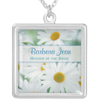 Mother of the Bride - White Daisy Wedding Necklace