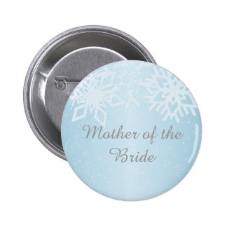 Mother of the Bride Winter Snowflakes 2 Inch Round Button