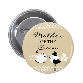 Mother of the Groom Birds Wedding Button