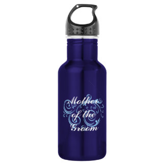Mother of the Groom, Blue Scroll 532 Ml Water Bottle