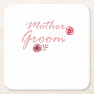 Mother of the Groom  Bridal Party Team Wedding Square Paper Coaster