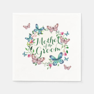 Mother of the Groom Butterfly Wreath | Napkin
