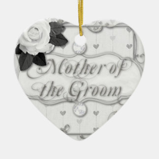 mother of the groom ceramic heart ornament
