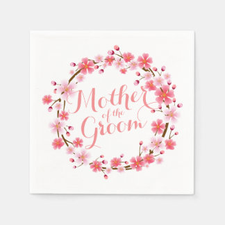 Mother of the Groom Cherry Blossom Wedding Napkin