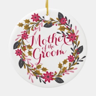 Mother of the Groom Christmas Wedding Ornament