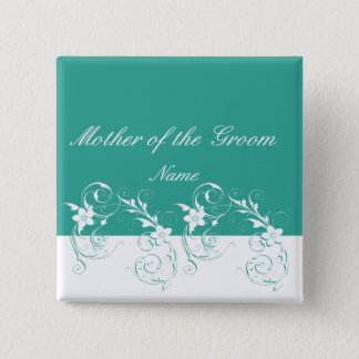 Mother of the Groom Elegant wedding 2 Inch Square Button