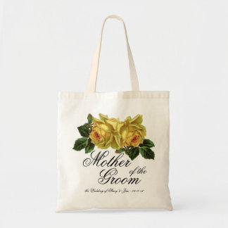 Mother of the Groom Floral Wedding Favor or Gift Tote Bag