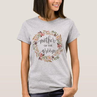 mother of the groom floral wreath -2 T-Shirt