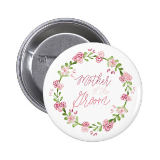 Mother of the Groom Flower Button Pin