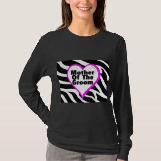 Mother Of The Groom (Heart Zebra Stripes) T-Shirt