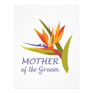 MOTHER OF THE GROOM LETTERHEAD DESIGN