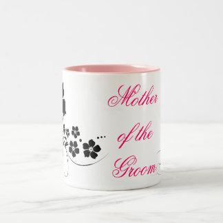 Mother of the Groom pink black Two-Tone Coffee Mug