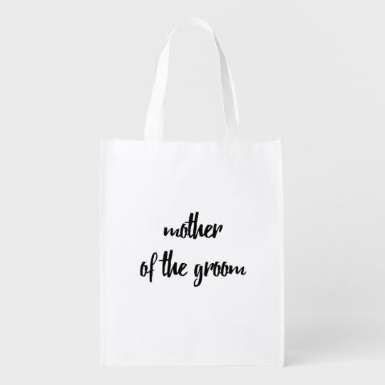 Mother of the Groom Reusable Bag - Wedding Grocery Bag