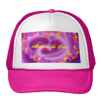 Mother of the Groom Swirly Heart Hat