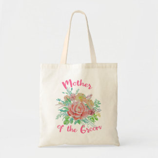 Mother of the Groom Vintage Floral Watercolor Gift Tote Bag