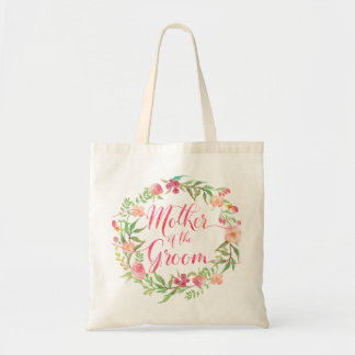 Mother of the Groom Watercolor Floral Wreath5 Tote Bag