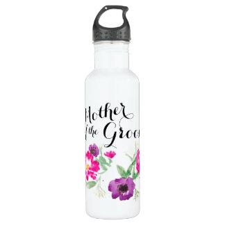 Mother of the Groom Watercolor Flowers Water 710 Ml Water Bottle