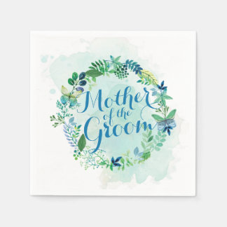 Mother of the Groom Watercolor   Napkin Disposable Napkins