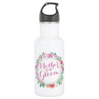 Mother of the Groom Watercolor Weddin Water Bottle