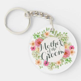Mother of the Groom Wedding Keychain