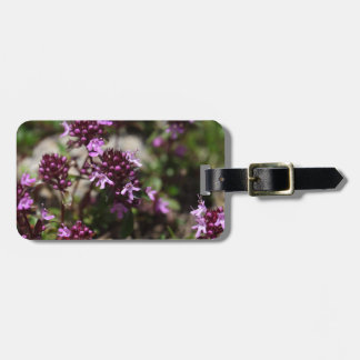 Mother of thyme flowers (Thymus praecox) Bag Tag