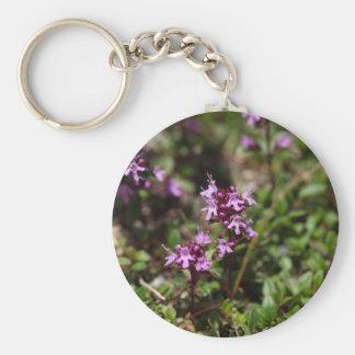 Mother of thyme flowers (Thymus praecox) Keychain