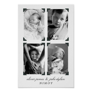 Mother or Father's Day Children's Photo Poster