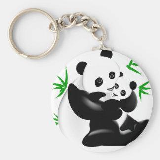 Mother Panda and Baby Panda Keychain