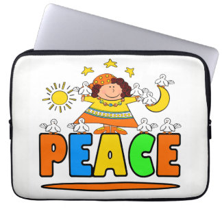 Mother Peace & Friends Laptop Sleeve