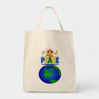 """""""Mother Peace on Earth"""" Grocery Tote Bag"""