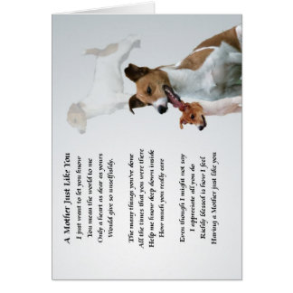 Mother Poem - Jack Russell Card