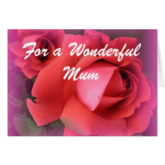 Mother red roses birthday card