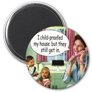 Mother s Day Funny Retro Housewife Magnet