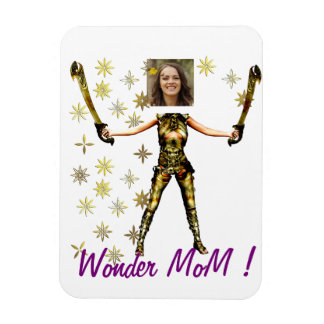 "Mother' S Day Item - Personalyze ""Wonder MoM "" Rectangular Photo Magnet"