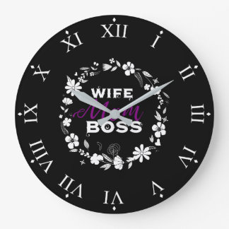 Mother's Day: Wife Mom Boss Queen Women Clock